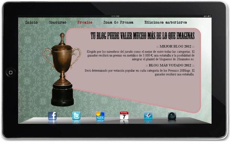 Nos han nominado como finalistas a los Premios 20 Blogs