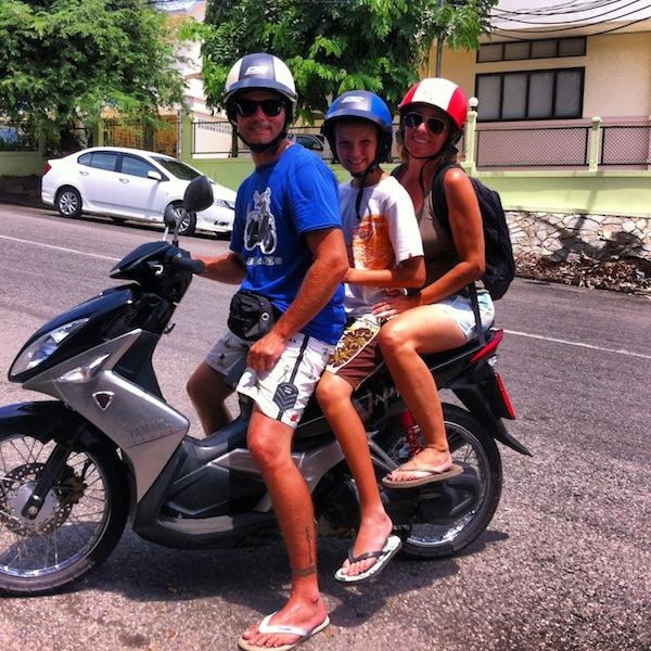 En moto por Krabi