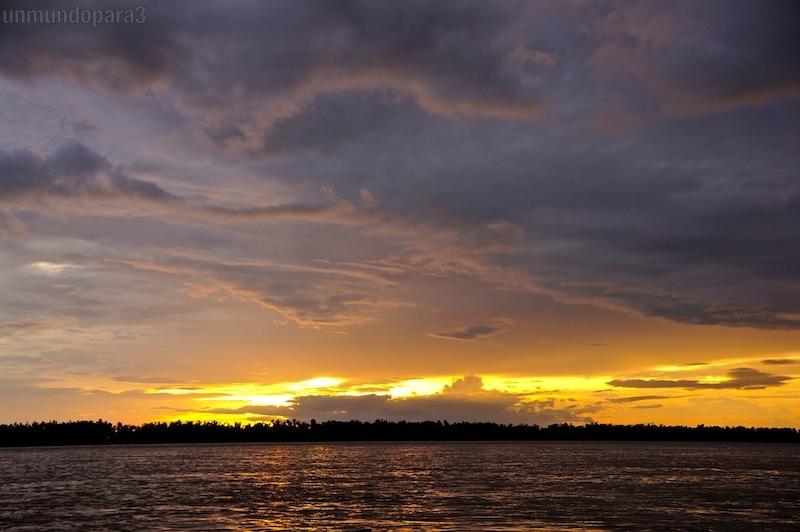 Atardecer en el Mekong River-Av. Marítima Kratie