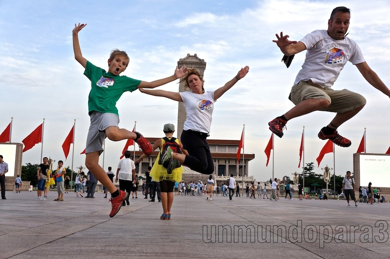 Saltando en Tiananmen