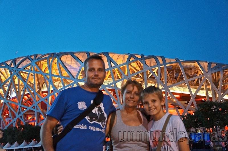 """Visitando el """"Nido"""", estadio Olímpico"""
