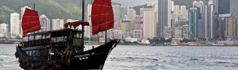 Embarcación típica hongkonesa