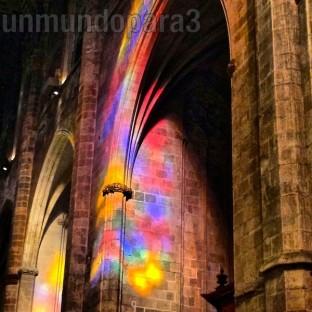 Reflejos vidrieras catedral de Palma