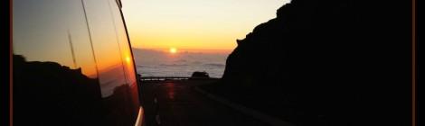 Carretera dorsal en Tenerife de camino al Teide