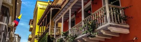 Balcones en las calles de Cartagena