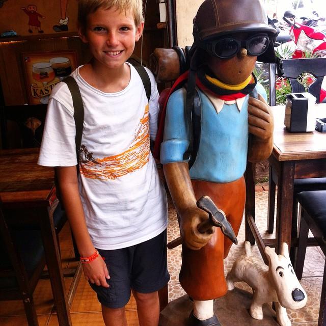 La admiración es mutua! @alvaro417  #Tintin #jovenviajero #viajacontuhijo