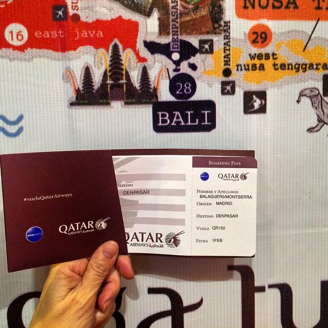 Me voy a #Bali? Seguro que con #vueloQatarAirways voy.