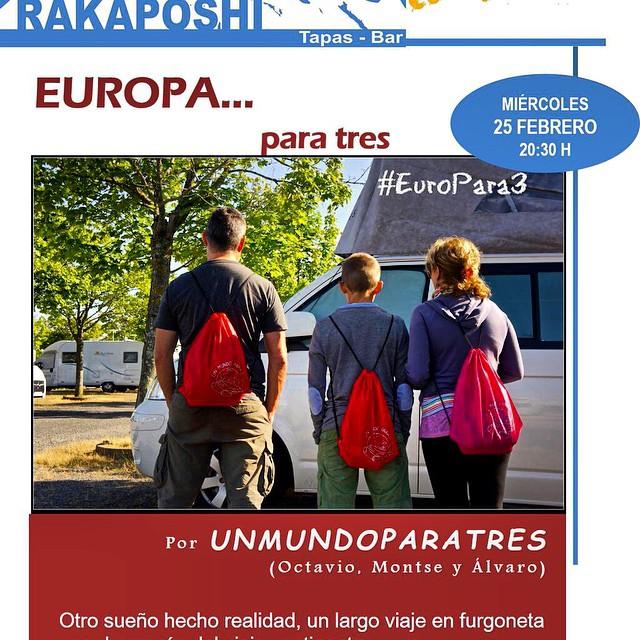 Buenos días amigos! Feliz martes! No olviden, mañana en el @rakaposhitapas hablaremos del #Europara3, 20.30 horas en #LaLaguna #Tenerife os esperamos!