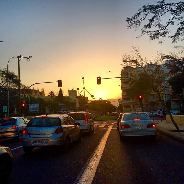 Buenos días, Montse en el #Keralablogexpress pero sigue amaneciendo en #Tenerife
