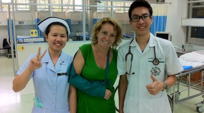 Con el equipo médico